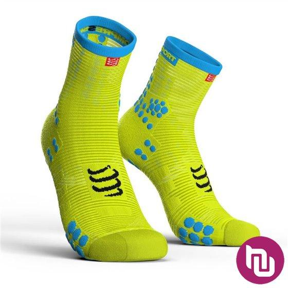Compressport PRS V3.0 run  HI fluo žuta T3 kompresijske čarape