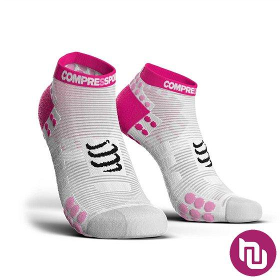 Compressport PRS V3.0 run bijela pink T3 kompresijske čarape
