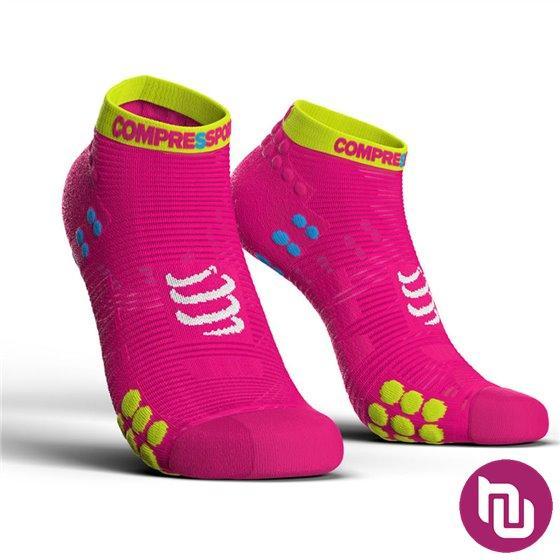 Compressport PRS V3.0 run low fluo pink T3 kompresijske čarape